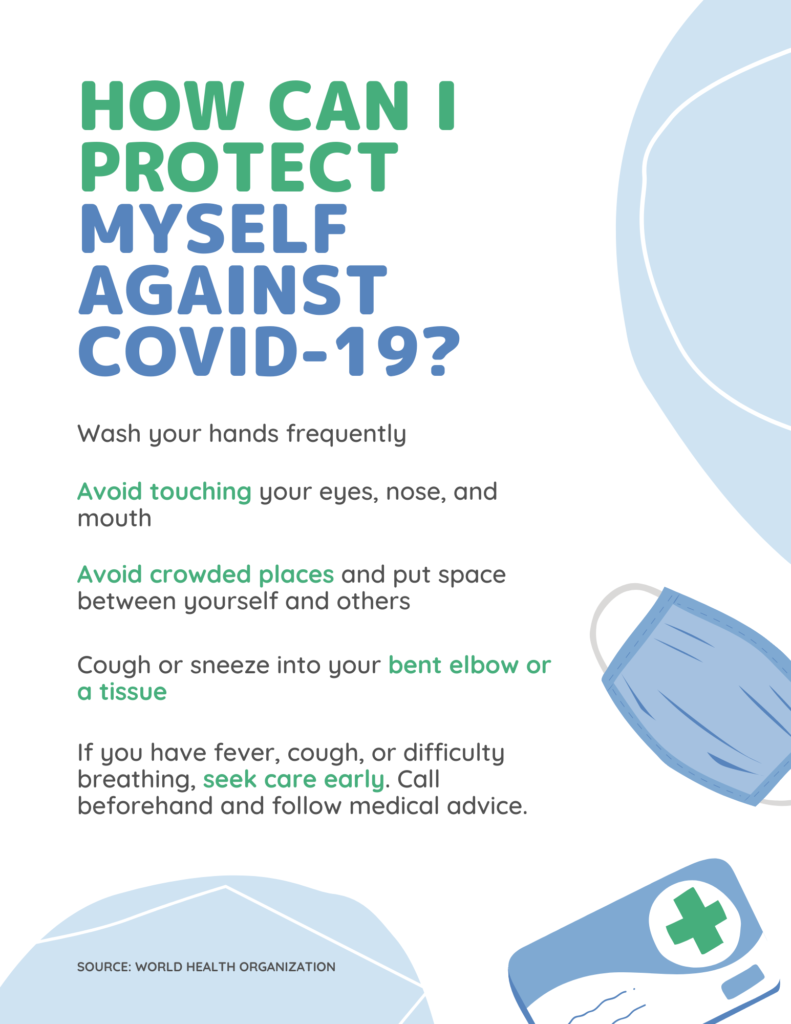 Light Blue and Blue COVID Flyer