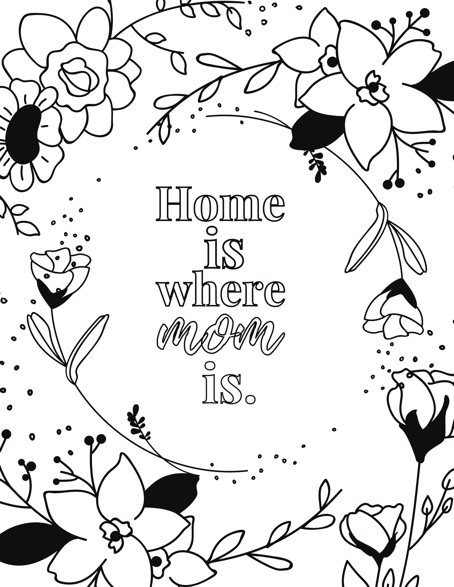 Mother's Day Home Decor PDF Free Wall Art